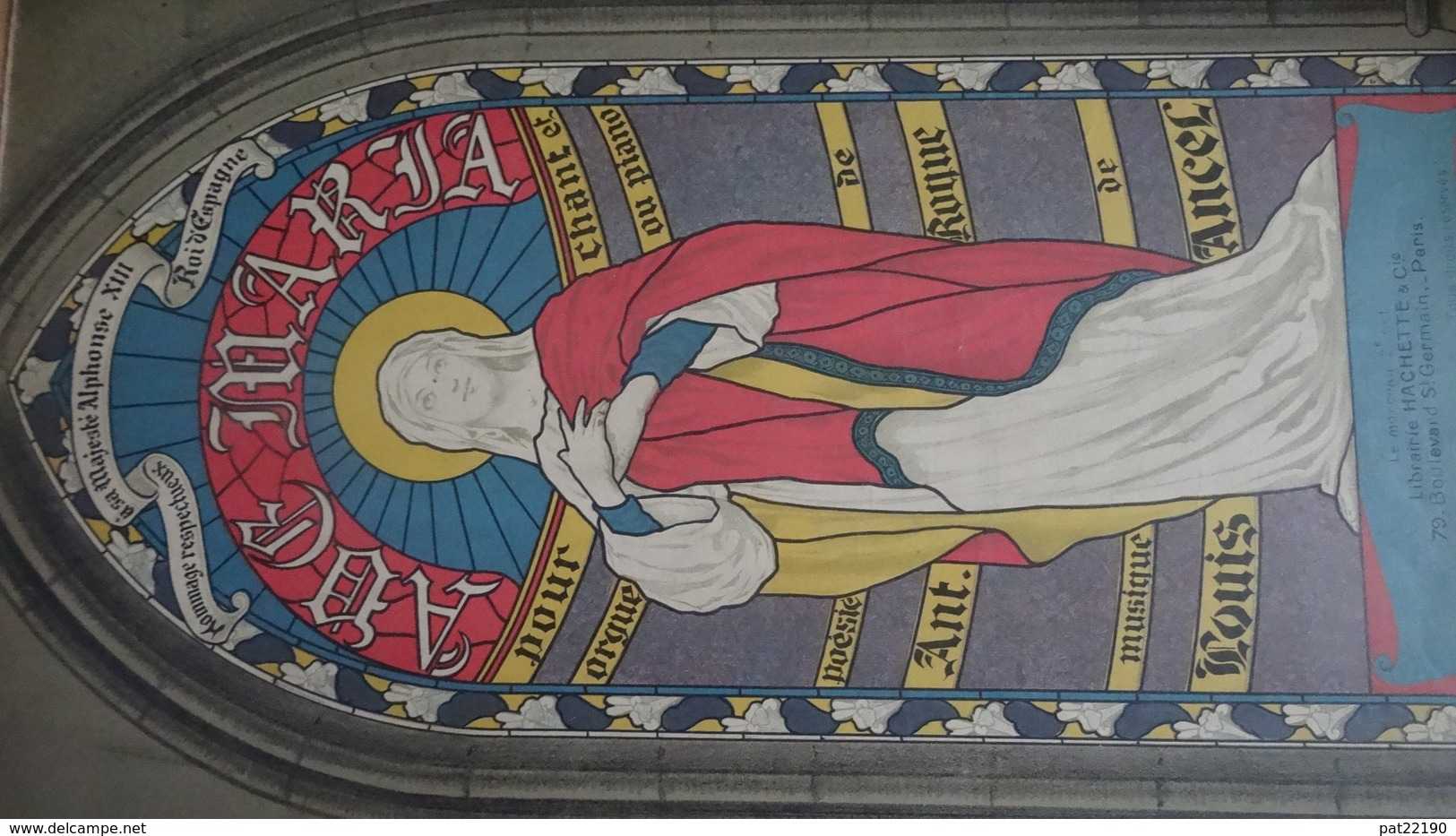 Rare Partition Ancienne GF Ave Maria Illustrateur A Magnenat Ant Roque Louis Ancel 1906 - Scores & Partitions
