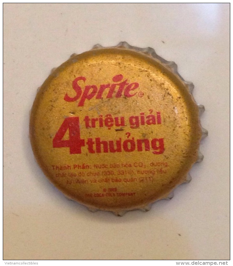 Vietnam Viet Nam Coca Cola Sprite BIG PROMOTION With 4 Milliions Prizes / Used Crown Cap / Kronkorken / Capsule / Chapa - Casquettes
