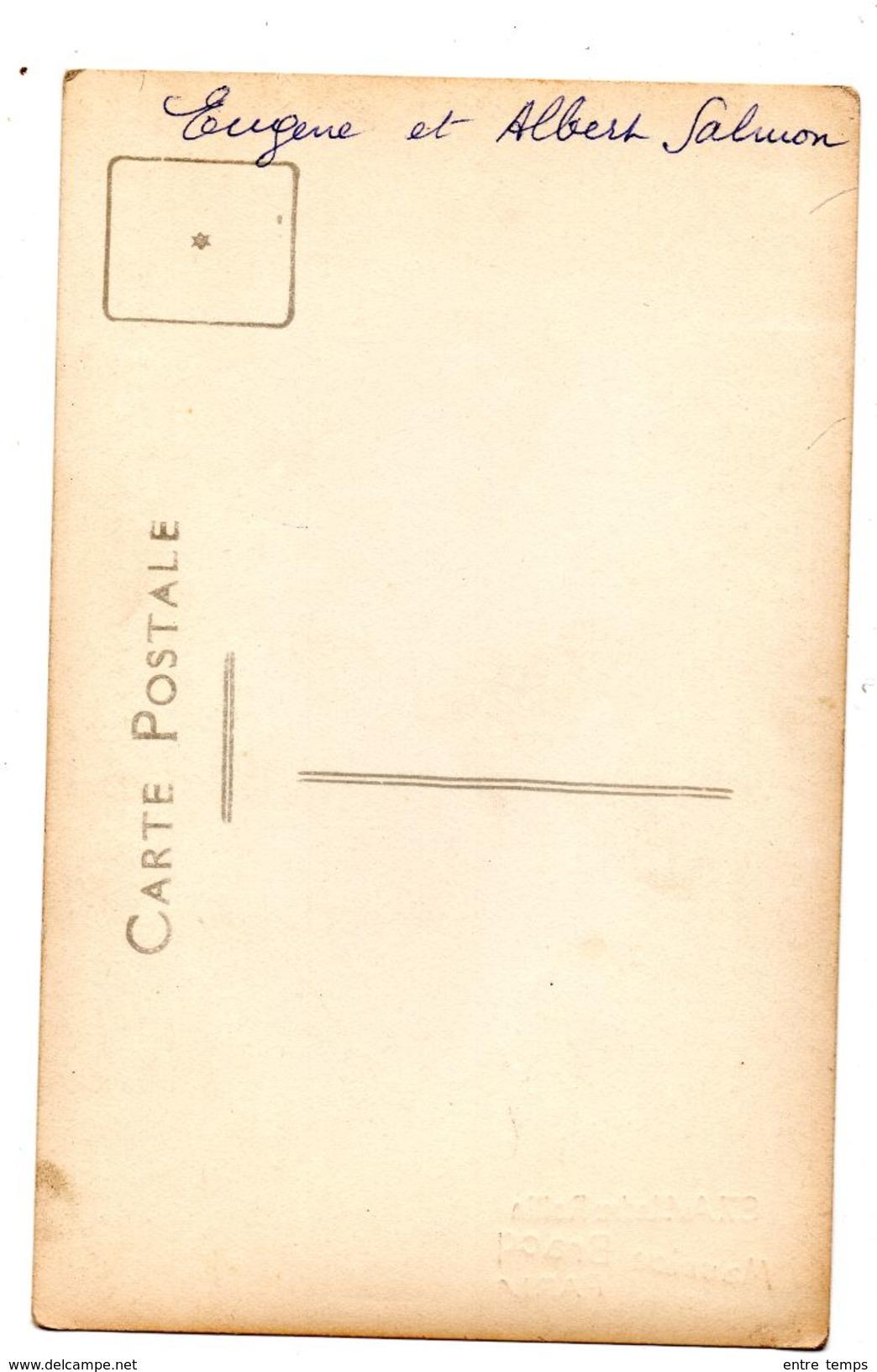 Carte Photo Soldat Salmon  20 ème Et 1 Er RI - War 1914-18