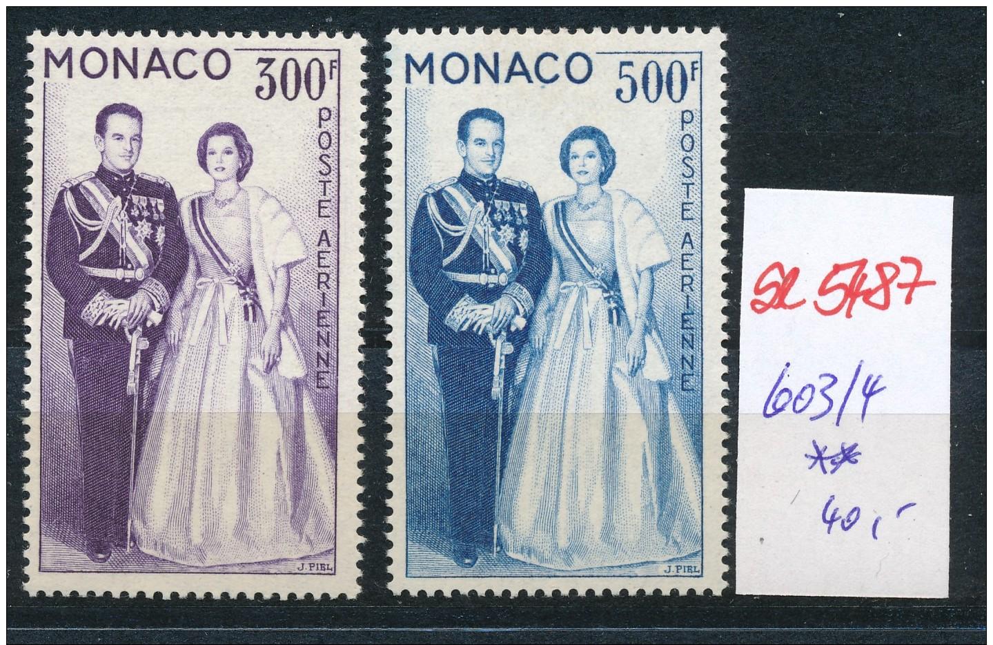 Monaco  Nr. 603-4   **( Se5487 ) Siehe Bild ! - Mónaco