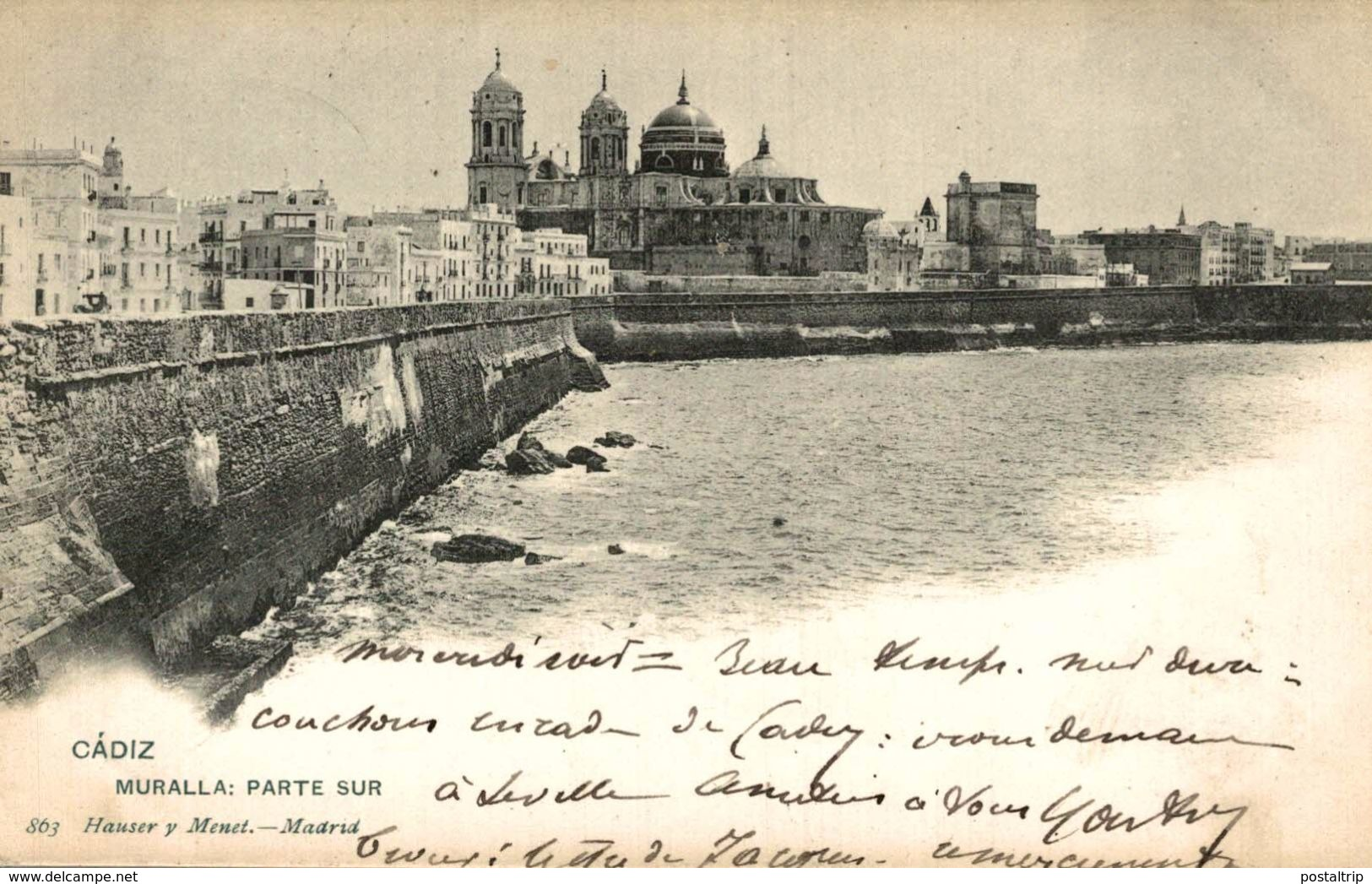 CADIZ. MURALLA PARTE SUR. - HAUSER Y MENET 863 - Cádiz