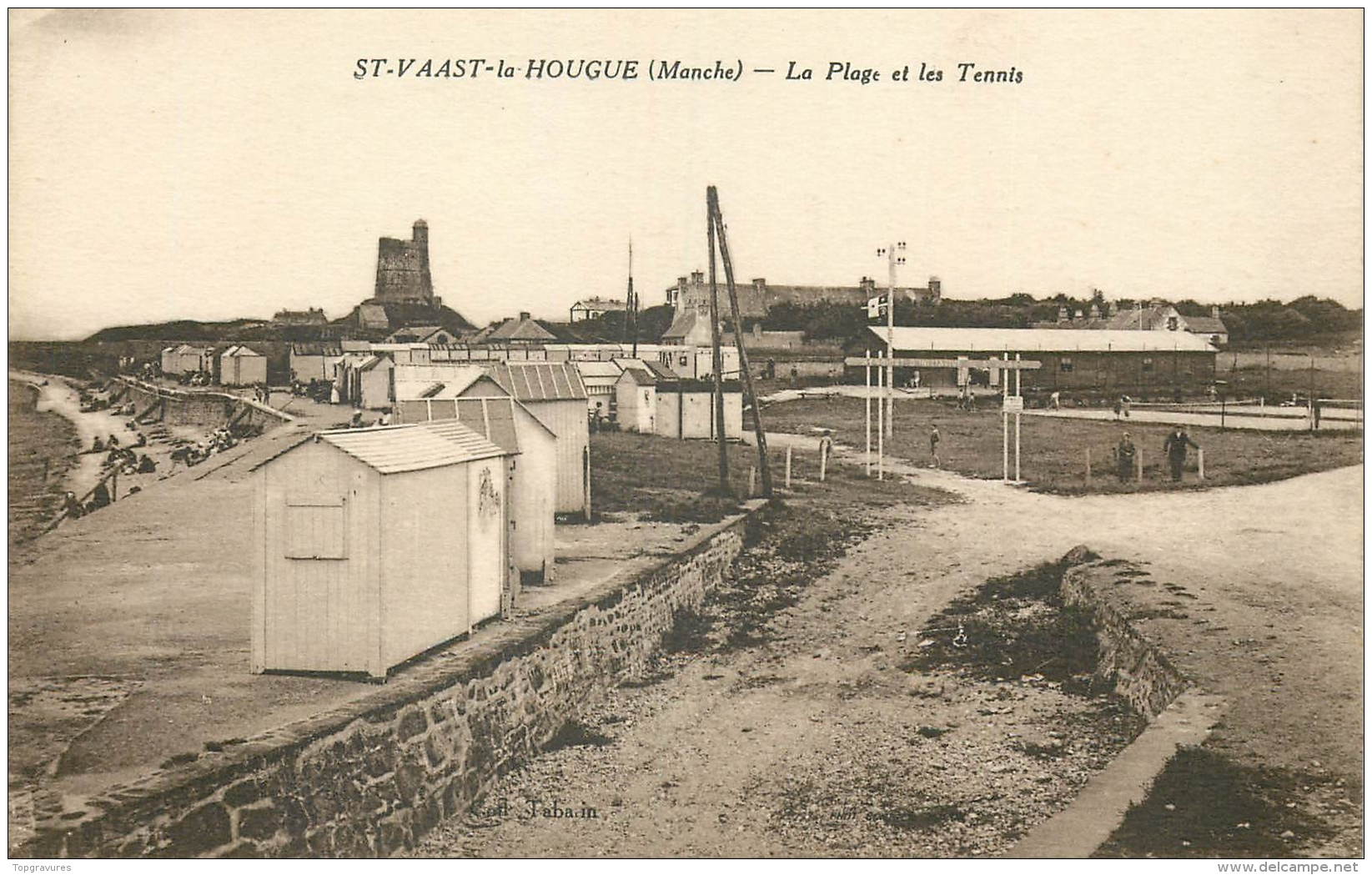 50 ST-VAAST-LA-HOUGUE PLAGE ET TENNIS - Saint Vaast La Hougue