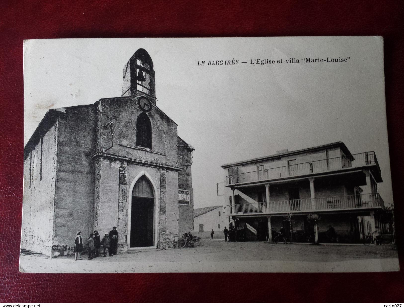 CPSM  LE BARCARES // L EGLISE ET LA VILLA MARIE LOUISE - France