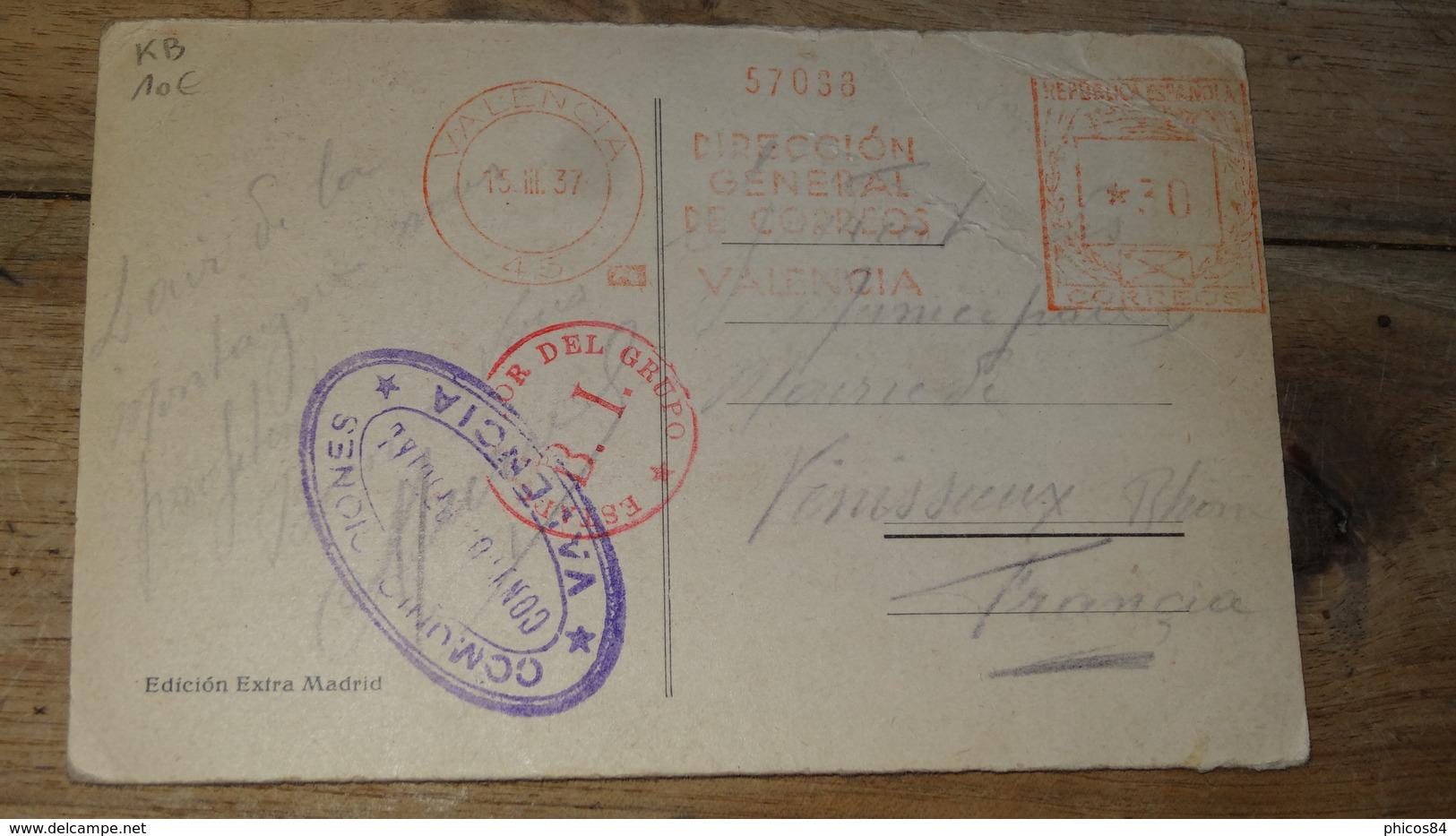 ESPAGNE : Carte Avec Cachet A Voir De 1937 .............. KB ............DIV-1162 - 1931-50 Lettres