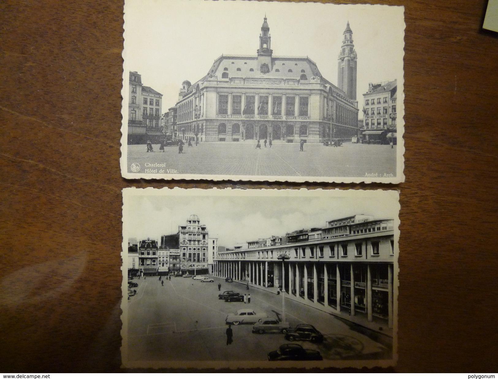 Charleroi. Lot De 6 Cartes. 1910-1960. - Charleroi