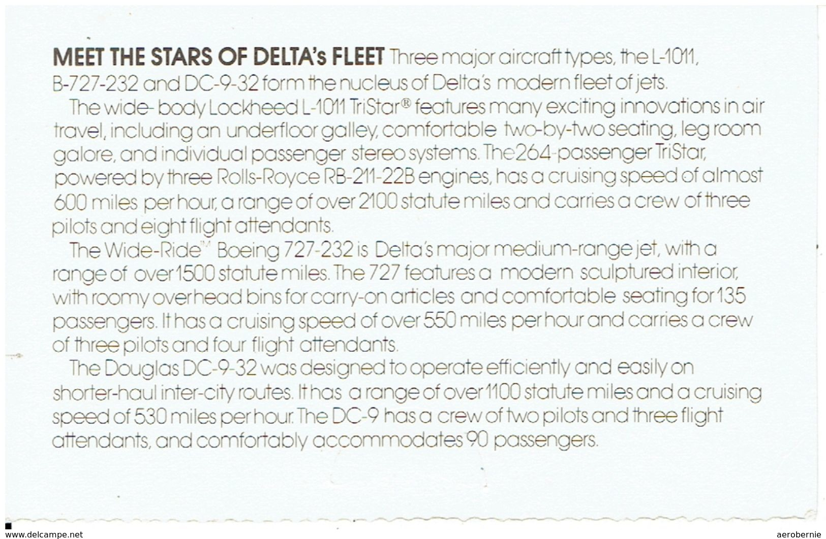 DELTA AIRLINES - Douglas DC-9-32 (airline Issue) - 1946-....: Moderne