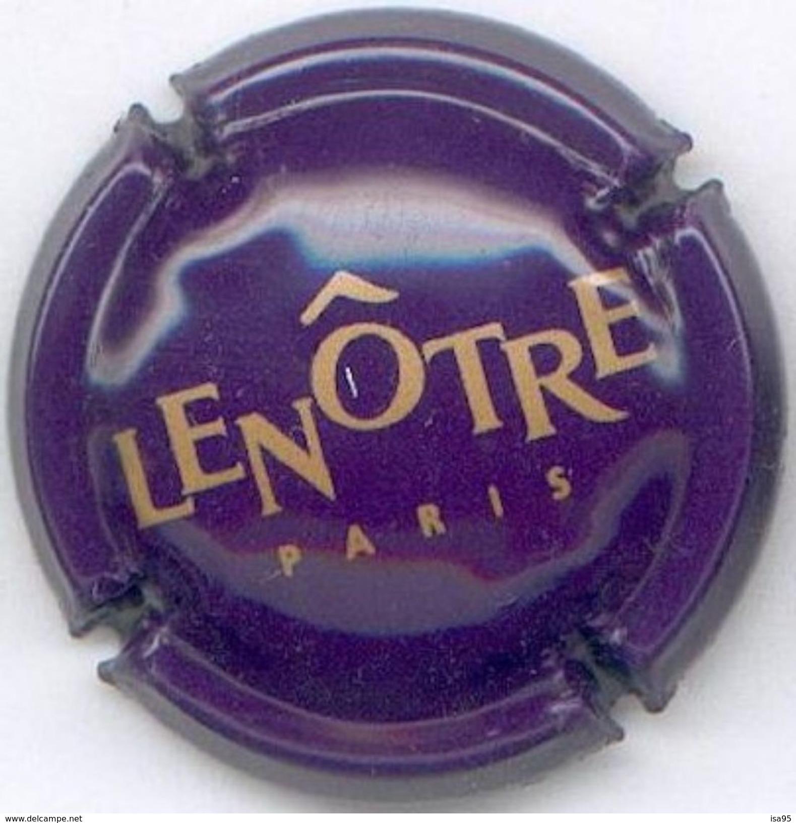 CAPSULE-CHAMPAGNE LENOTRE N°03 Violet Foncé & Or - Champagnerdeckel