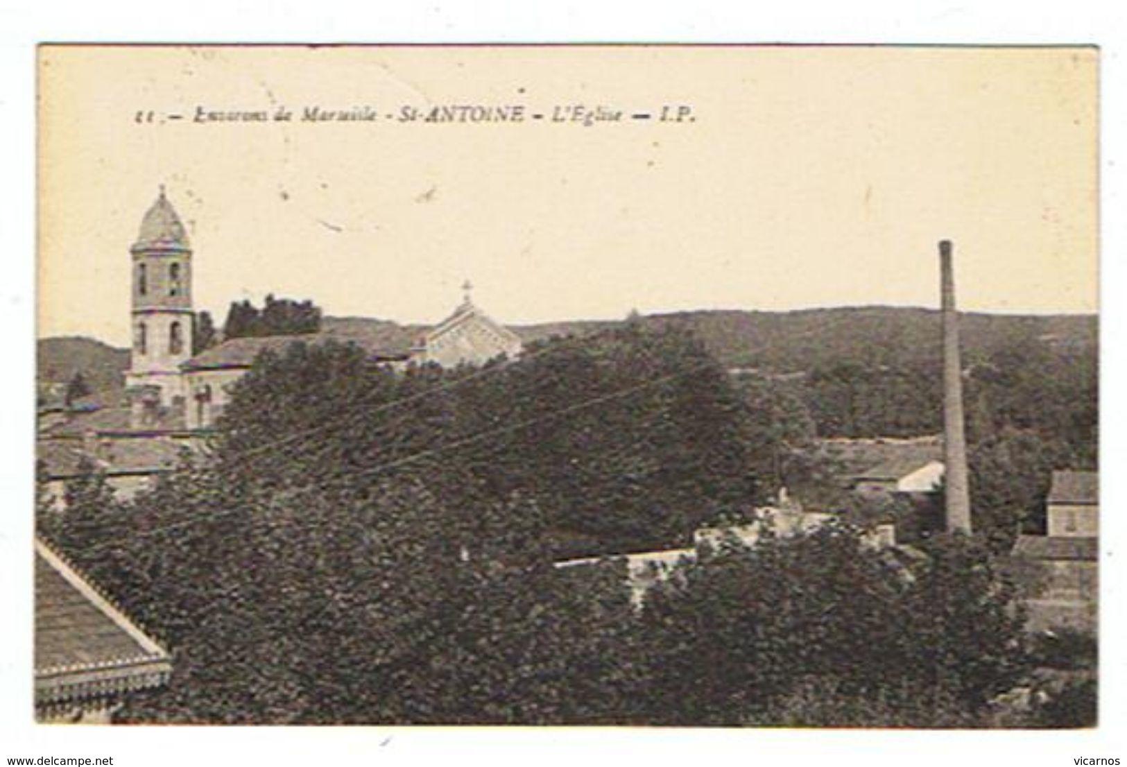 CPA 13 ST ANTOINE L'église - Autres Communes