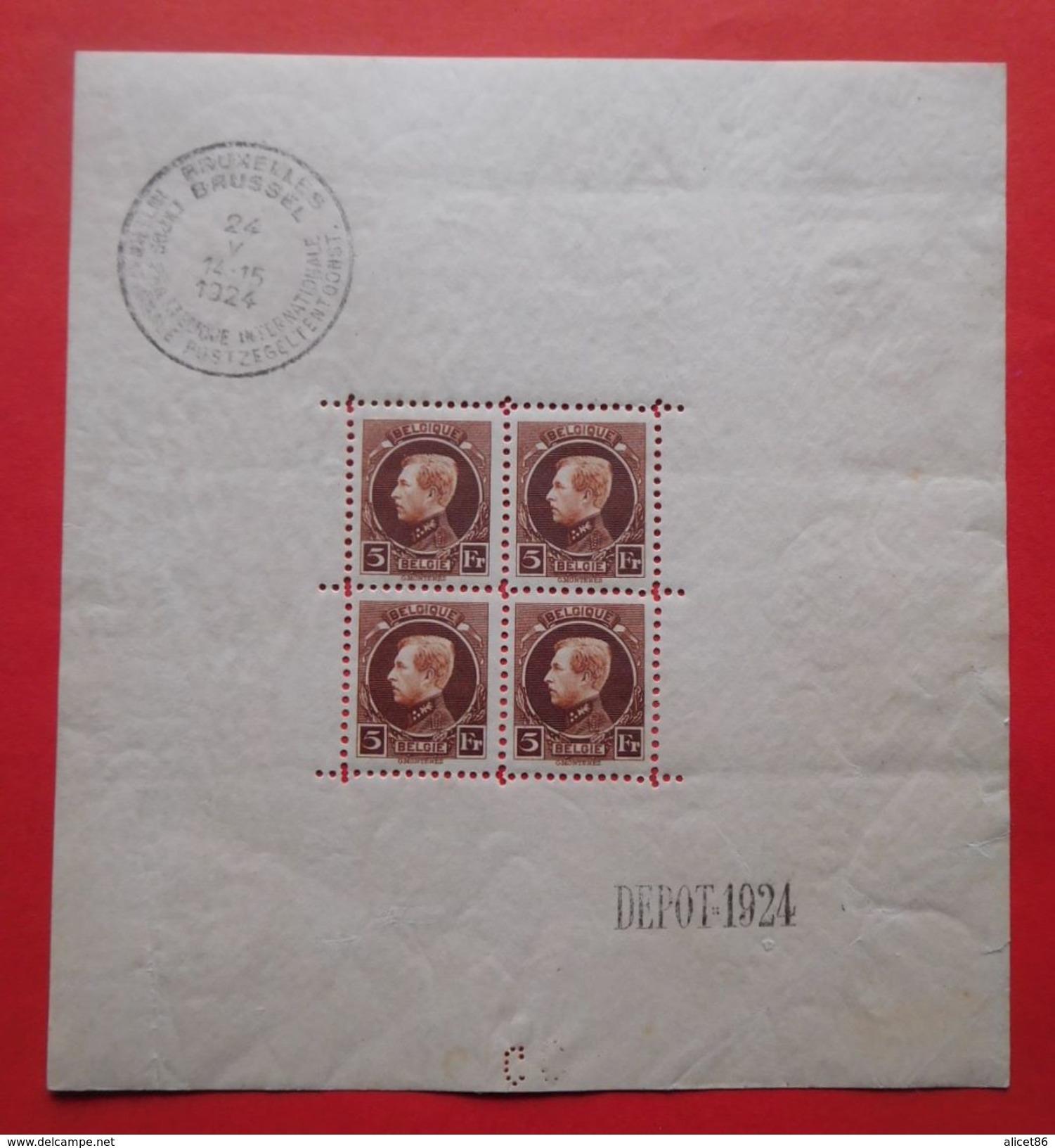 Bloc N°1 Timbres Neufs Belgique 1924 - Blocks & Kleinbögen 1924-1960