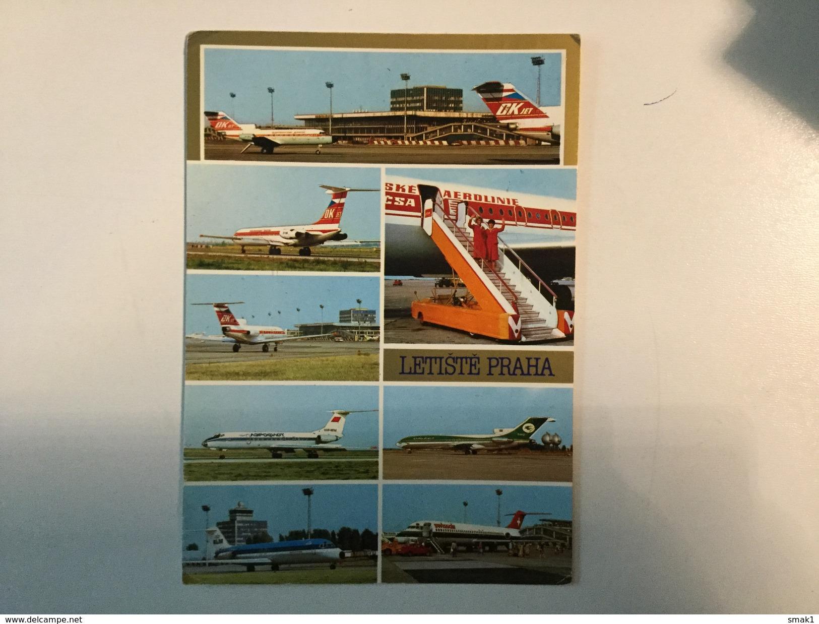 AK  AERODROM  AIRPORT  PRAHA   AIRPLANE - Aerodrome
