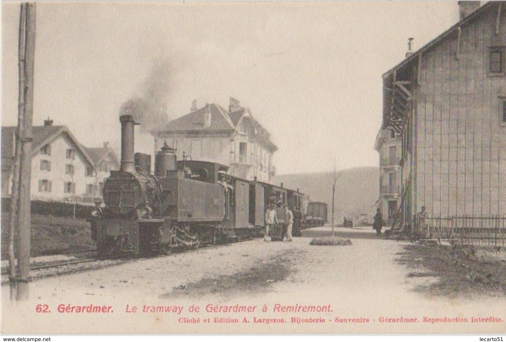 GERARDMER Le Tramway De Gerardmer A Remiremont - Gerardmer