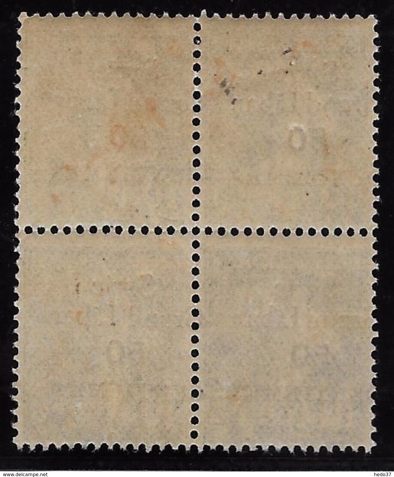 Syrie N°90 - Bloc De 4 - Variété Surcharge Légèrement à Cheval - Neuf ** Sans Charnière - TB - Syria (1919-1945)
