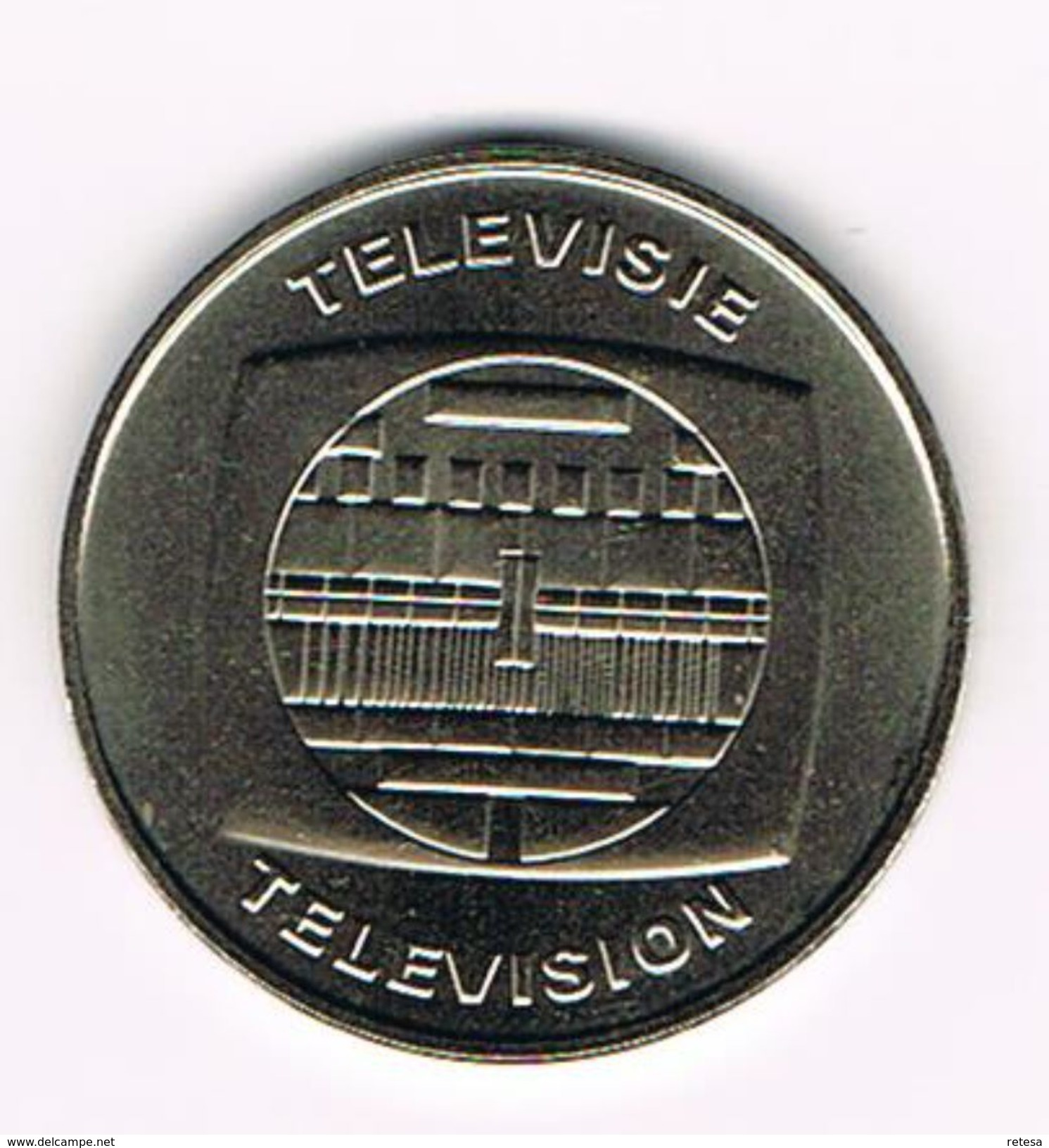 ) PENNING  50 JAAR TELEVISIE TELEVISION BELGIE - BELGIQUE  1953 - 2003 - Souvenir-Medaille (elongated Coins)