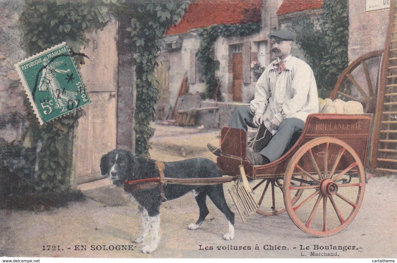 CPA - Métier - Boulanger - Les Voitures à Chien - Sologne - Centre-Val De Loire