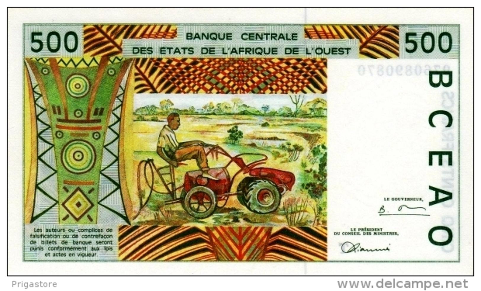 West African States - Afrique De L´ouest Togo 1997 Billet 500 Francs Pick 810 G Neuf 1er Choix UNC - Togo