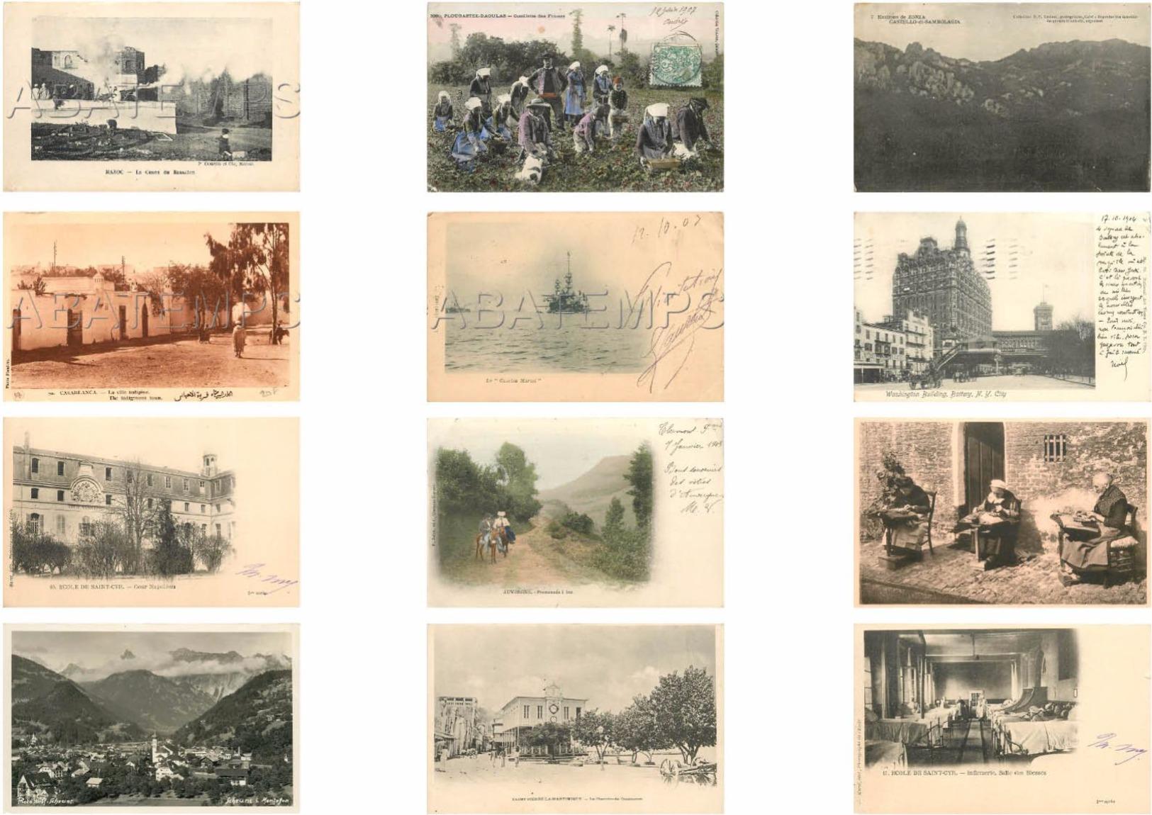 BEL ASSORTIMENT DE 230 CARTES ÉTRANGÈRES ET FRANCE VOIR SCAN - 100 - 499 Karten