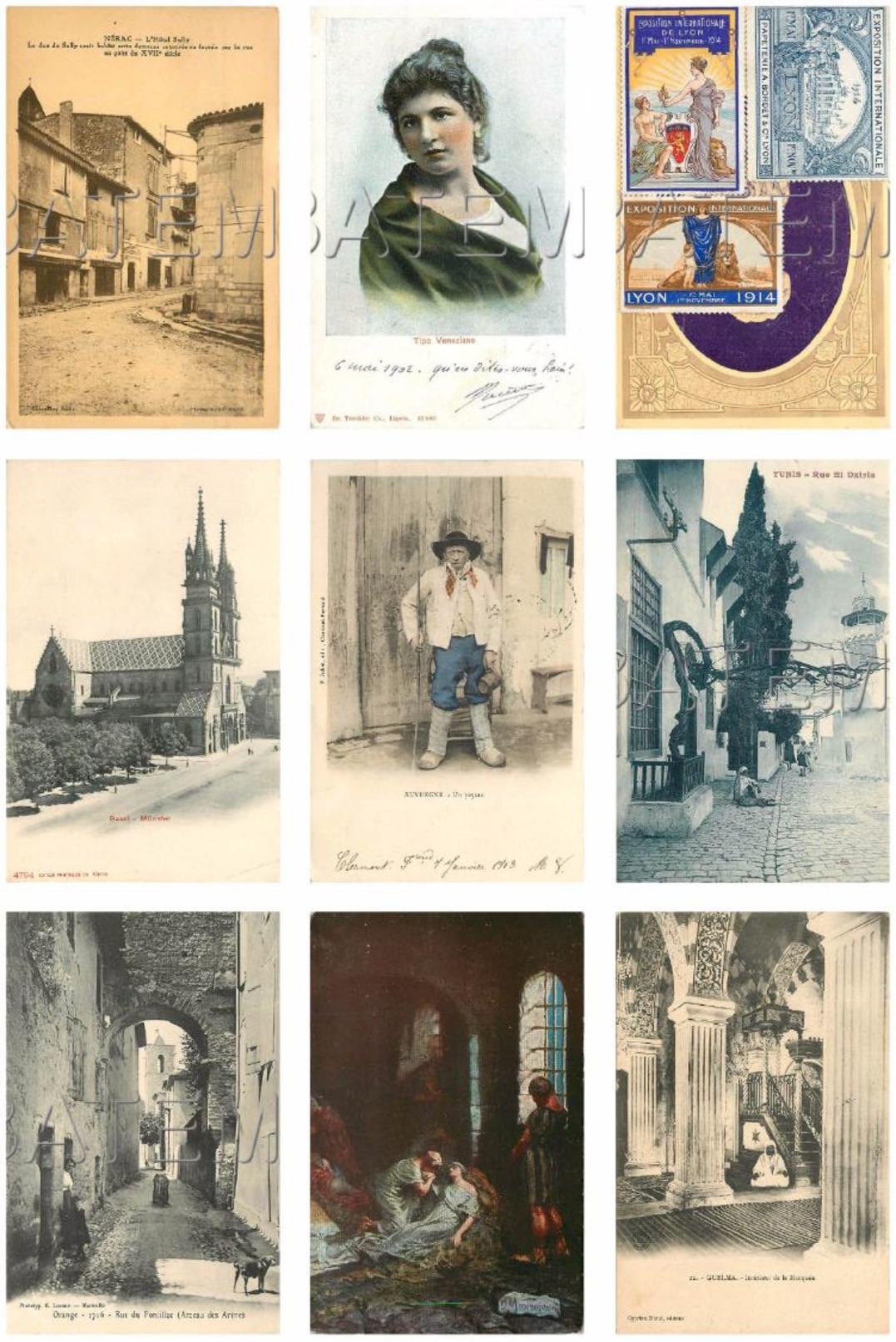 BEL ASSORTIMENT DE 230 CARTES ÉTRANGÈRES ET FRANCE VOIR SCAN - 100 - 499 Cartes