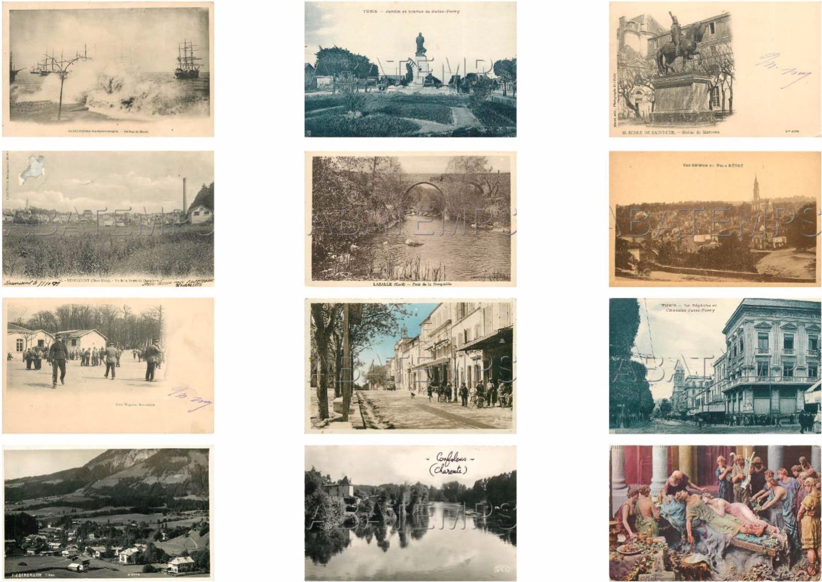 BEL ASSORTIMENT DE 230 CARTES ÉTRANGÈRES ET FRANCE VOIR SCAN - Cartes Postales