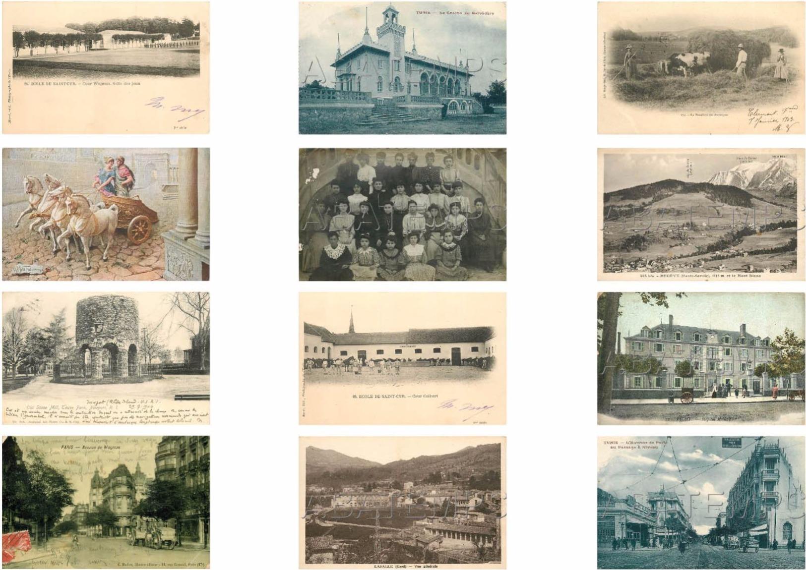 BEL ASSORTIMENT DE 230 CARTES ÉTRANGÈRES ET FRANCE VOIR SCAN - 100 - 499 Postcards