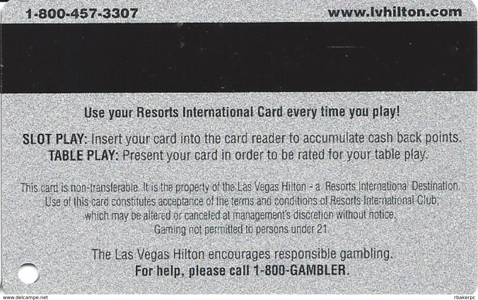 Las Vegas Hilton Casino - BLANK 15th Issue Slot Card - Casino Cards