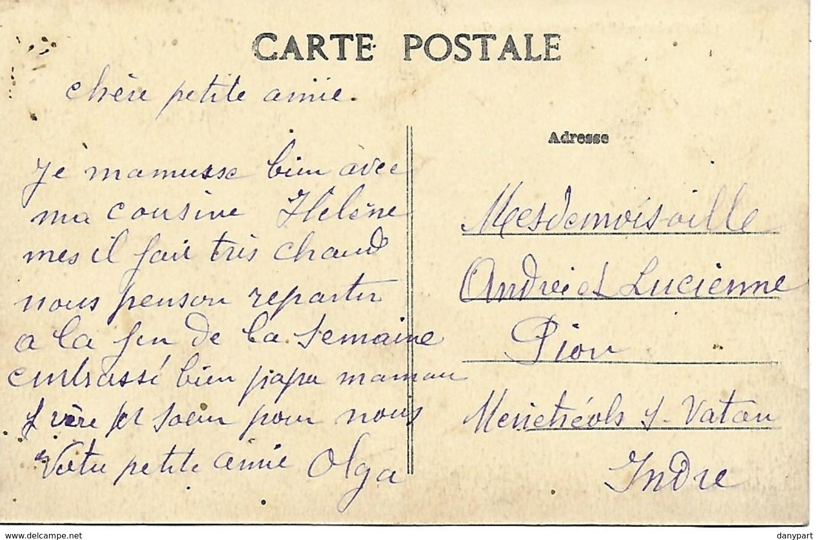 TREMOREL RARE CARTE INEDITE DE LA GARE ANIMEE 1916 EDIT. A. LAMIRE A RENNES SCAN RESTO VERSO - Frankreich