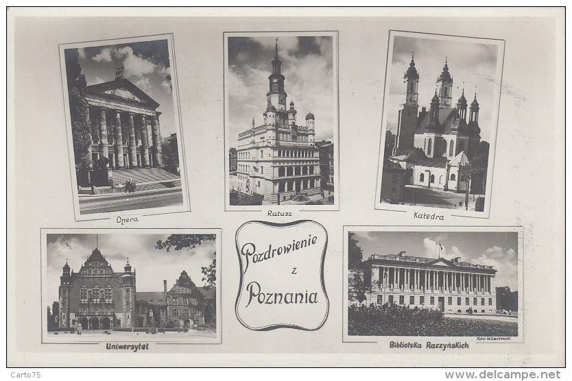 Pologne - Poznan - Pozdrowienie Z Poznania - Foto St. Laskowski - Bibliothèque Université - Pologne