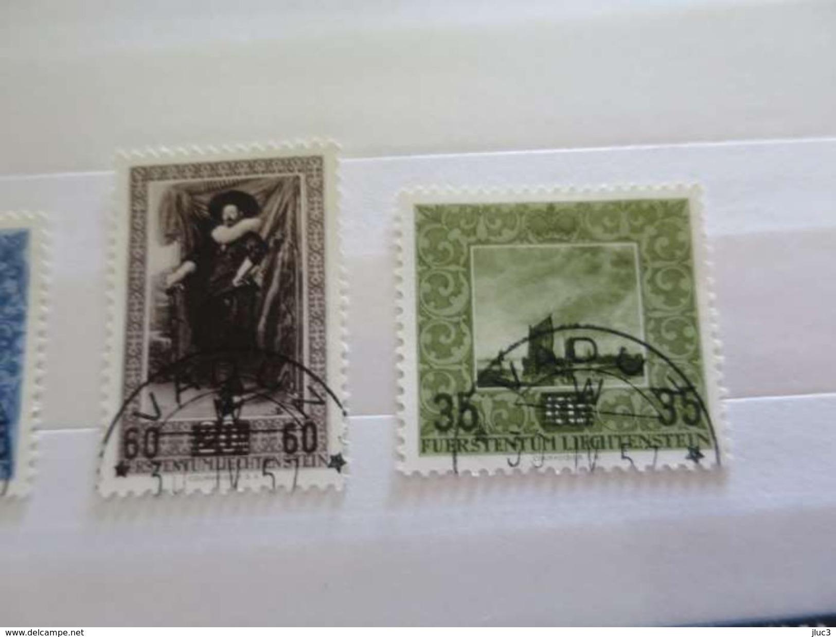 ZLIECHo284+ - LIECHTENSTEIN - 1954/56 - 2 Séries Complètes Oblitérées + 1 Timbre Oblitéré - R A R E - Côte > 58.00 EUROS - Collections