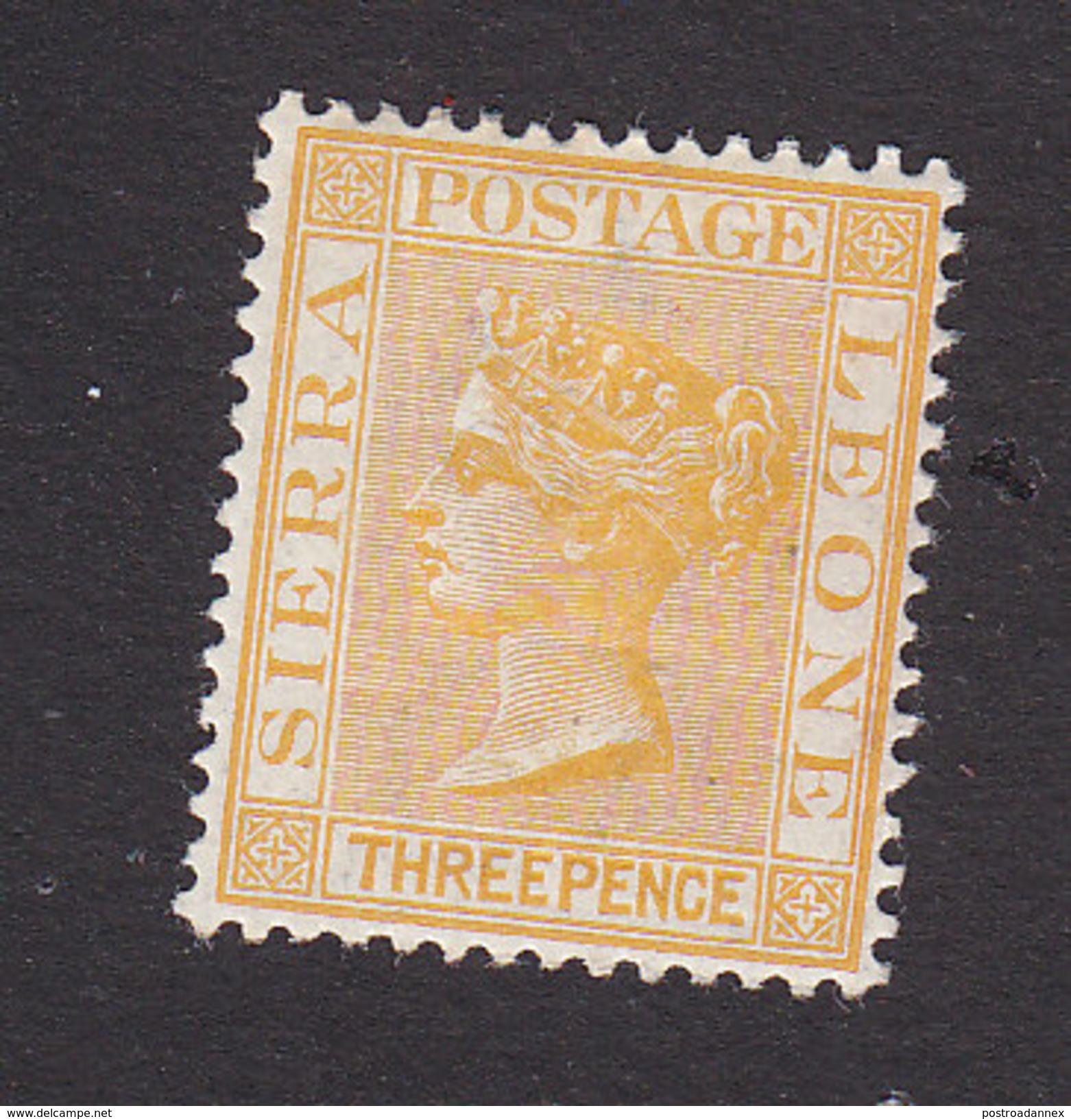 Sierra Leone, Scott #28, Mint Hinged, Queen Victoria, Issued 1883 - Sierra Leone (...-1960)
