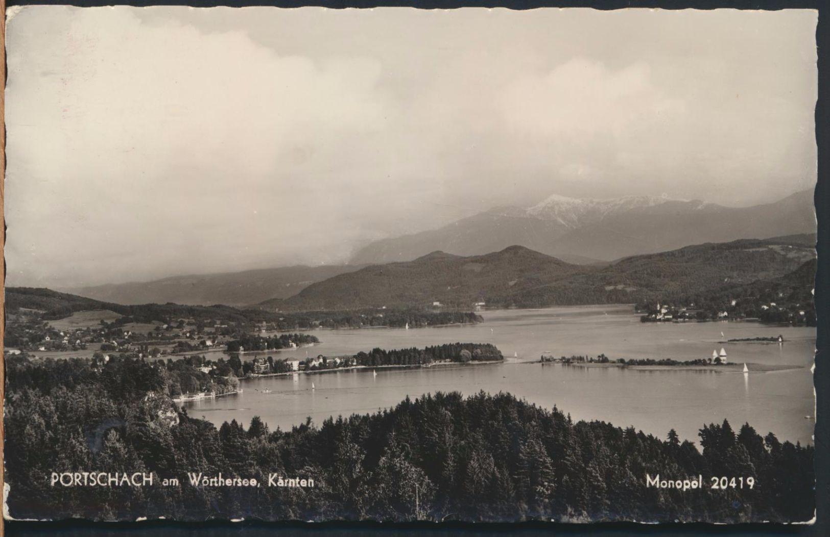 °°° 6297 - AUSTRIA - PORTSCHACH AM WORTHERSEE - 1957 With Stamps °°° - Pörtschach