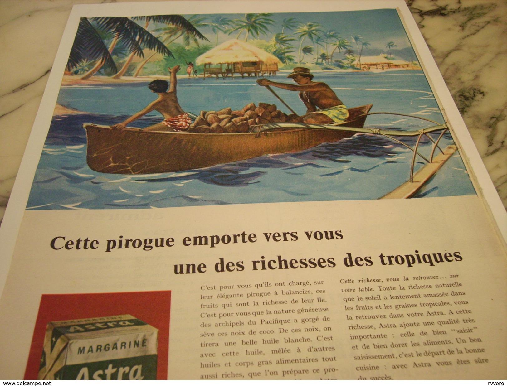 ANCIENNE AFFICHE PUBLICITE  MARGARINE ASTRA RICHESSE DES TROPIQUES 1958 - Affiches