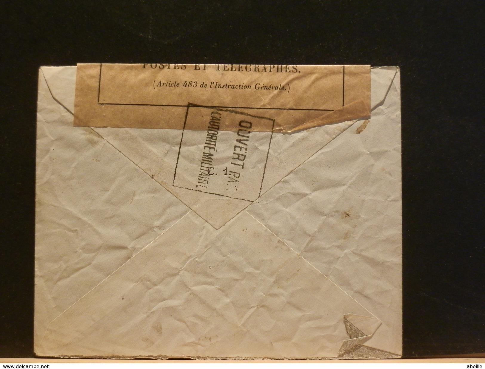 65/338A    LETTRE POUR PARIS  1915  CENSURE - Marcofilie (Brieven)