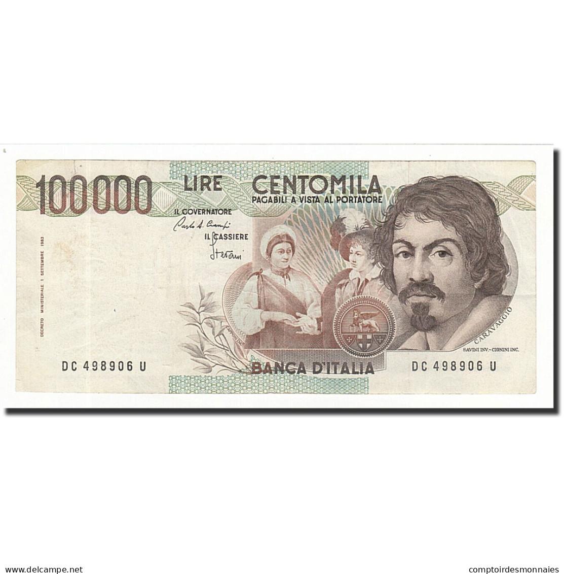 Italie, 100,000 Lire, KM:110a, 1983-09-01, TTB - [ 2] 1946-… Republik