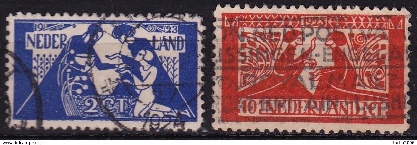 1923 Toorop Zegels Gestempelde Serie NVPH 134 / 135 - 1891-1948 (Wilhelmine)