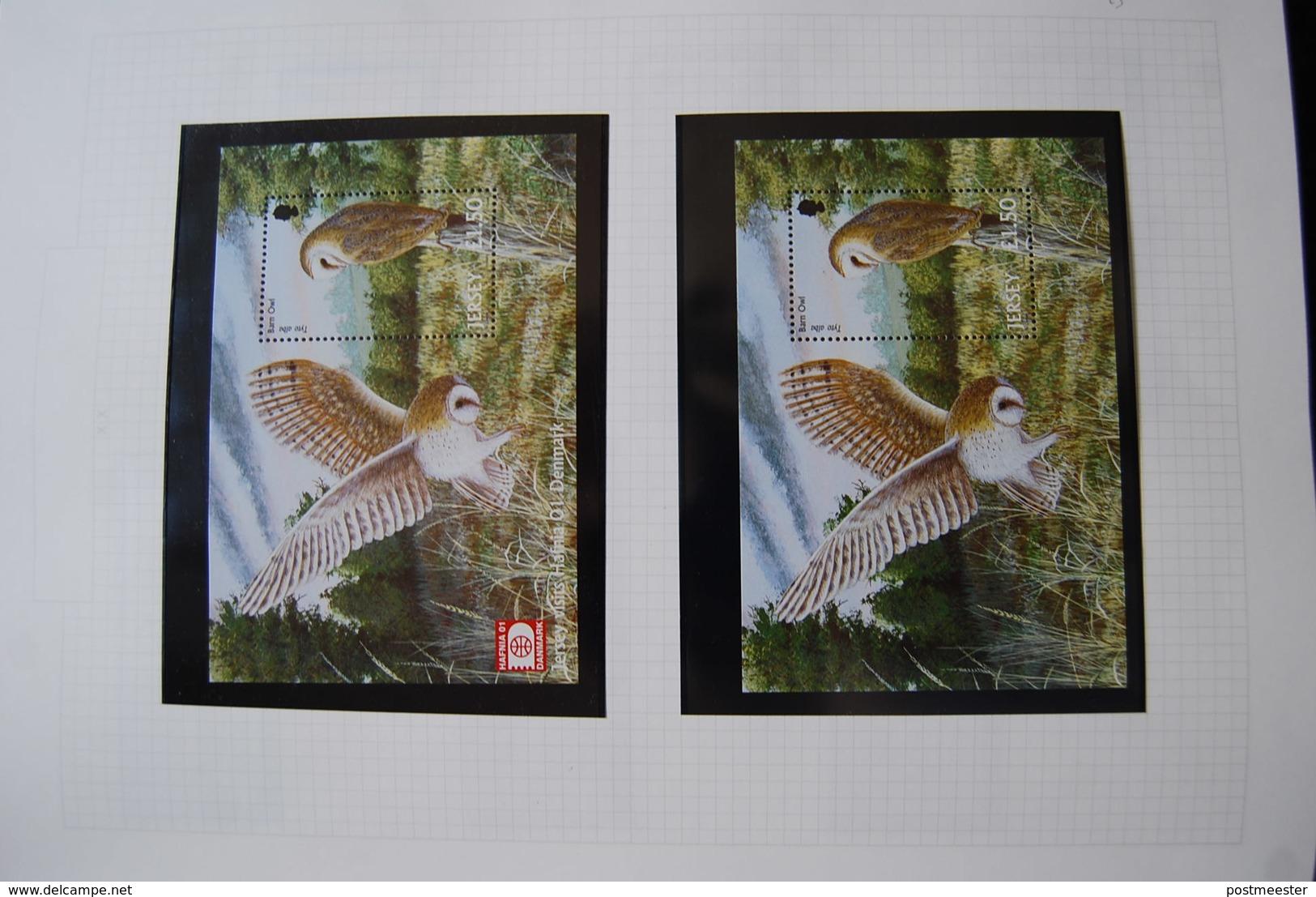 Jersey: Uitgebreide Postfrisse Verzameling In 2 Importa Albums. - Timbres