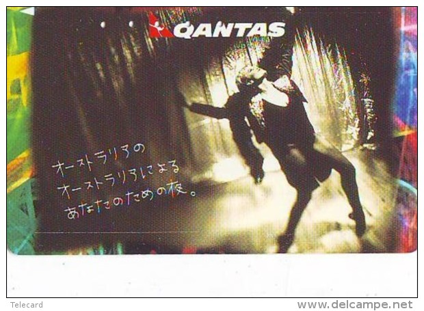 Télécarte  JAPON *  QANTAS * FEMME * AUSTRALIE  (2291) Phonecard JAPAN * Airplane * Flugzeug AVION * AIRLINE - Airplanes