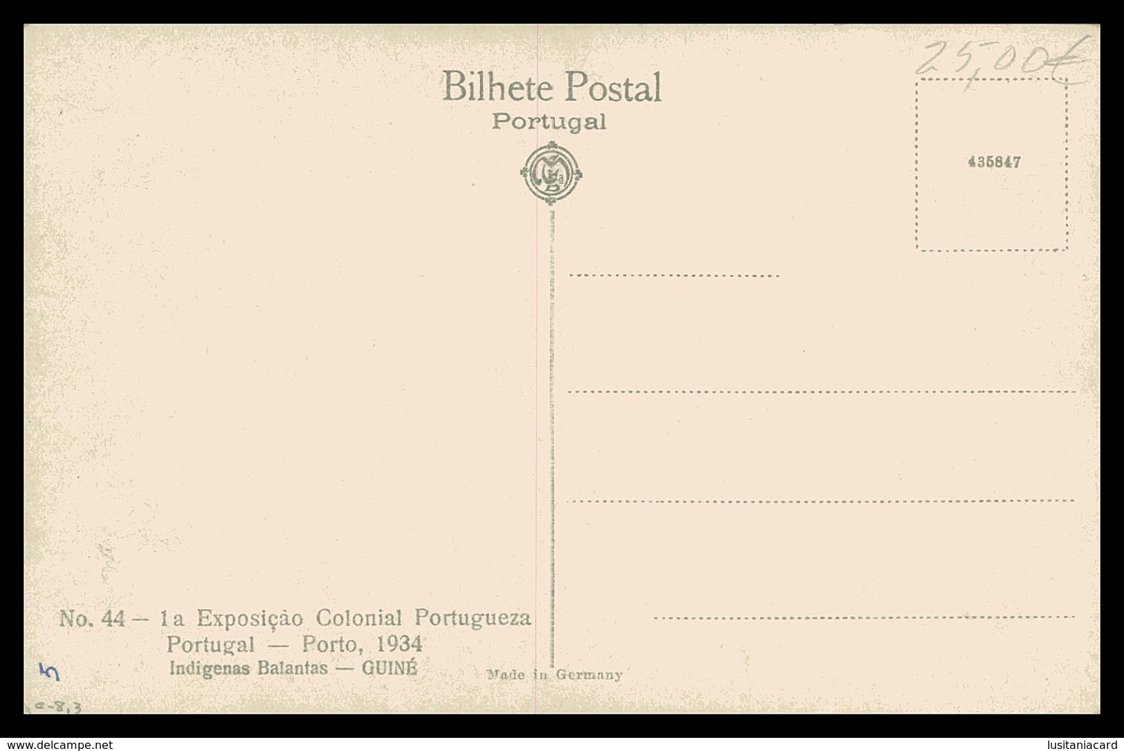 GUINÉ  -EXPOSIÇÕES - Rosinha O Sucesso Feminino ( Ed. 1ª Exposição Colonial Portugueza Nº 44/ Foto Alvão) Carte Postale - Guinea-Bissau