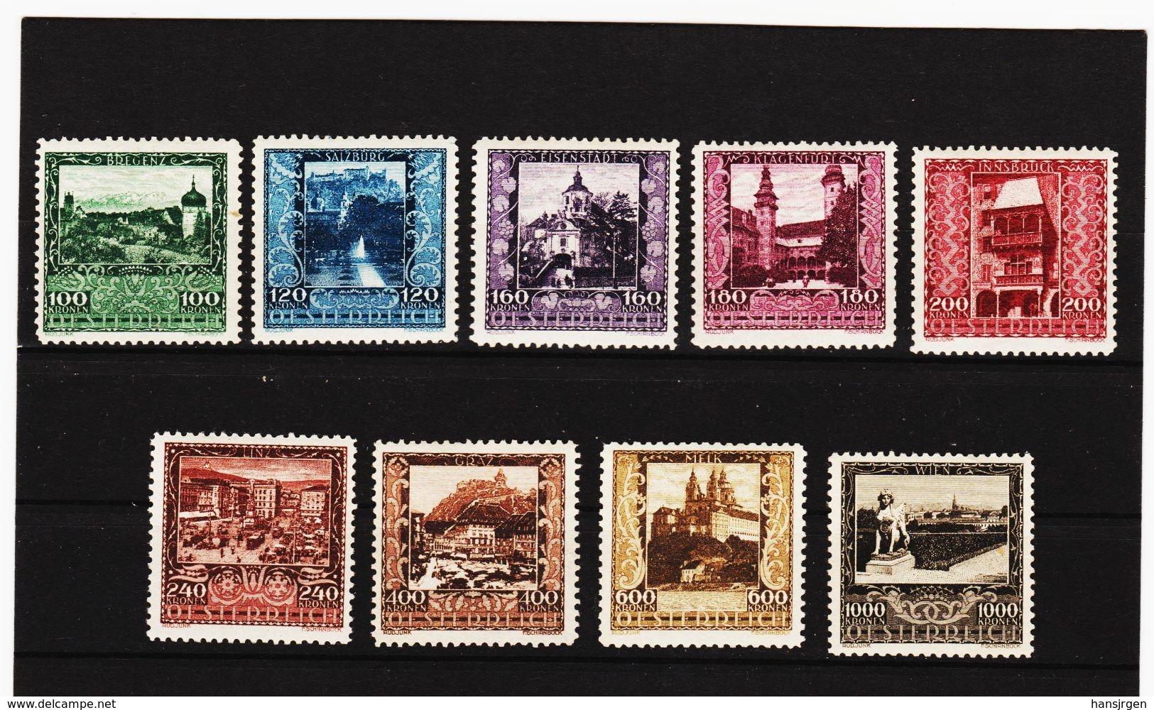 MAG1082 AUSTRIA ÖSTERREICH 1923 Michl  433/41  ** Postfrisch Siehe ABBILDUNG - 1918-1945 1. Republik
