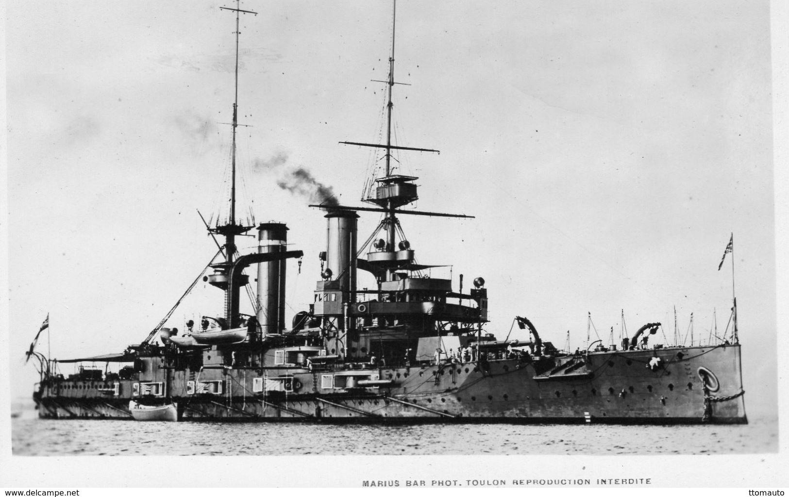 Marine Militaire Anglaise  -  'HMS Triumph'  -   Cuirasse  -  1903  -  Marius Bar Photo Carte  -  CP - Oorlog