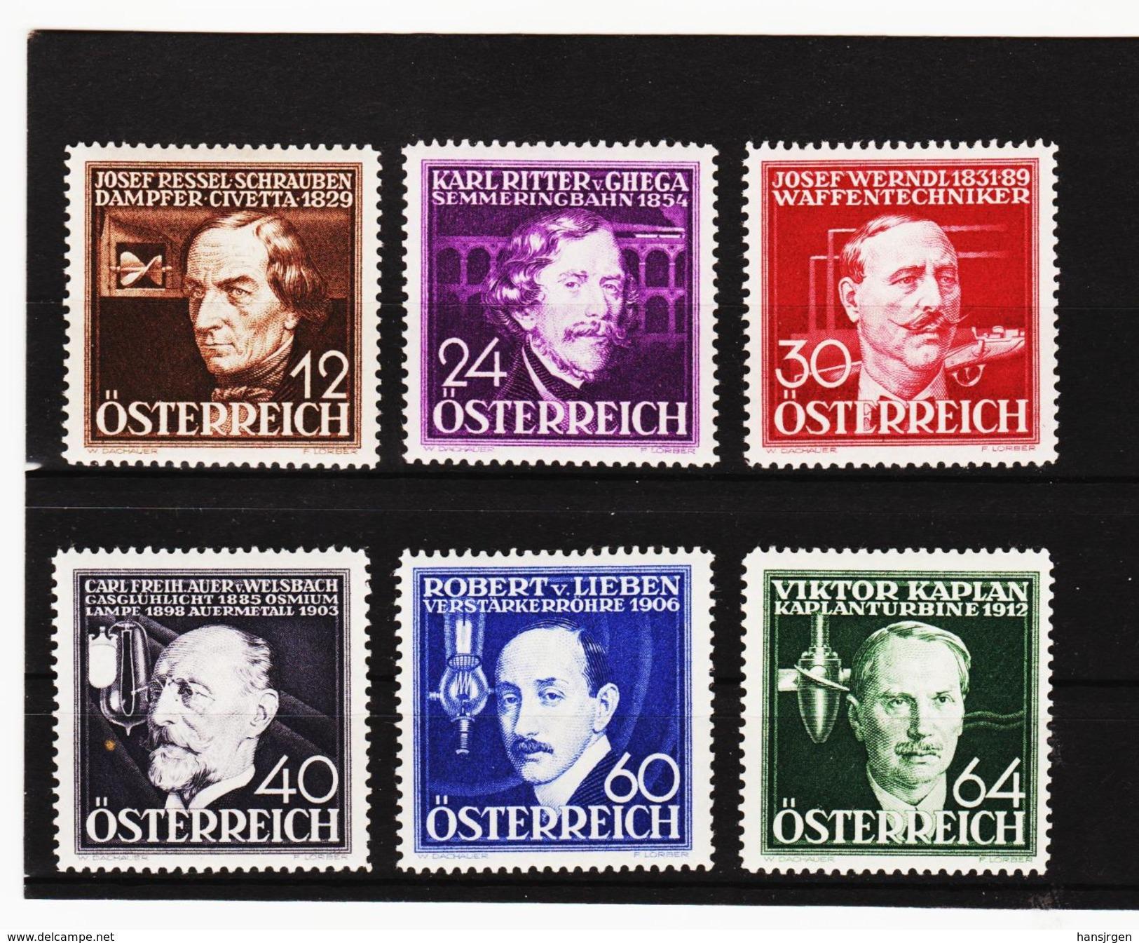 MAG1098 AUSTRIA ÖSTERREICH 1936 Michl  632/37  ** Postfrisch Siehe ABBILDUNG - Ungebraucht