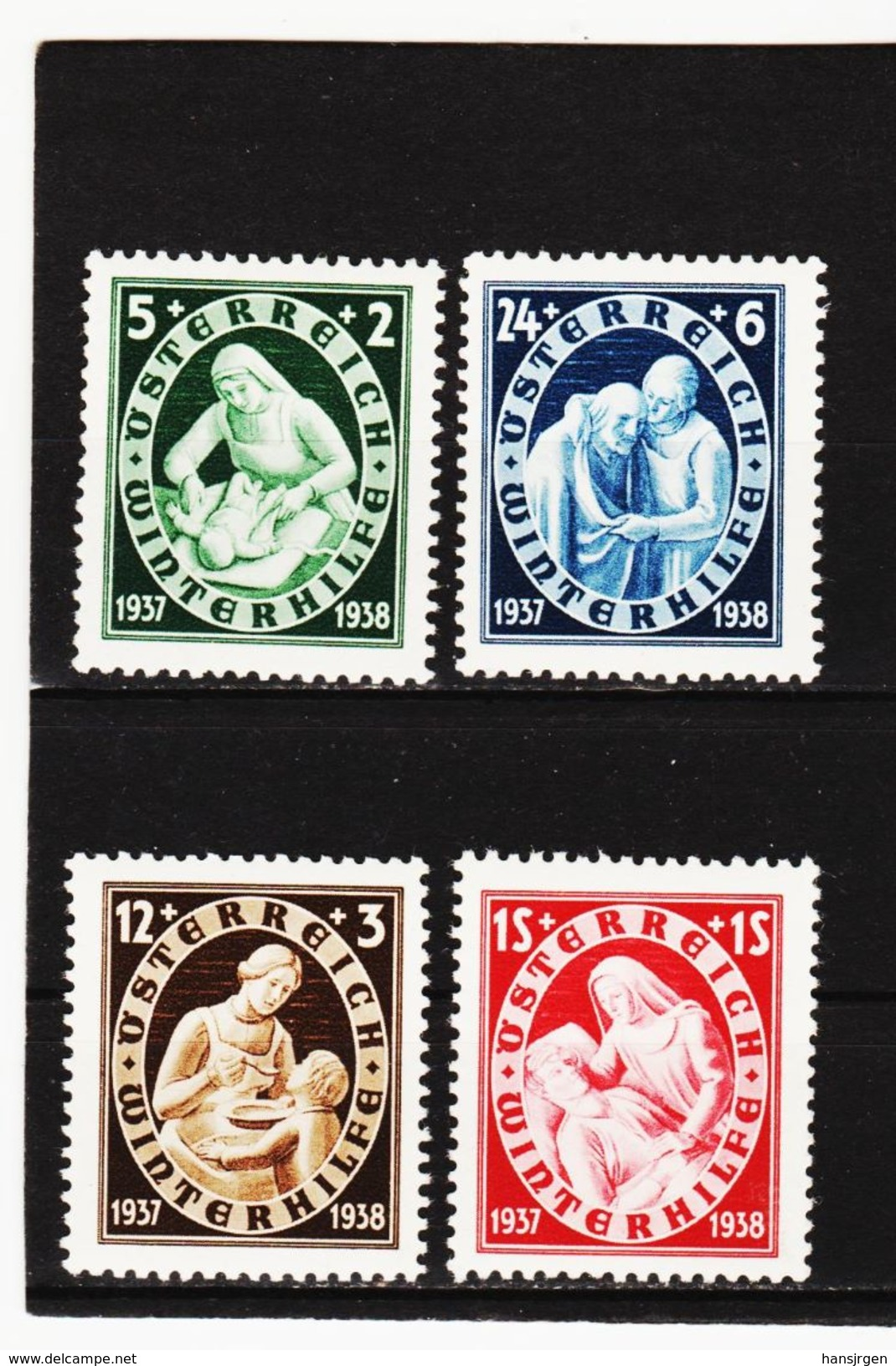 MAG1100 AUSTRIA ÖSTERREICH 1937 Michl  642/45  ** Postfrisch Siehe ABBILDUNG - Ungebraucht