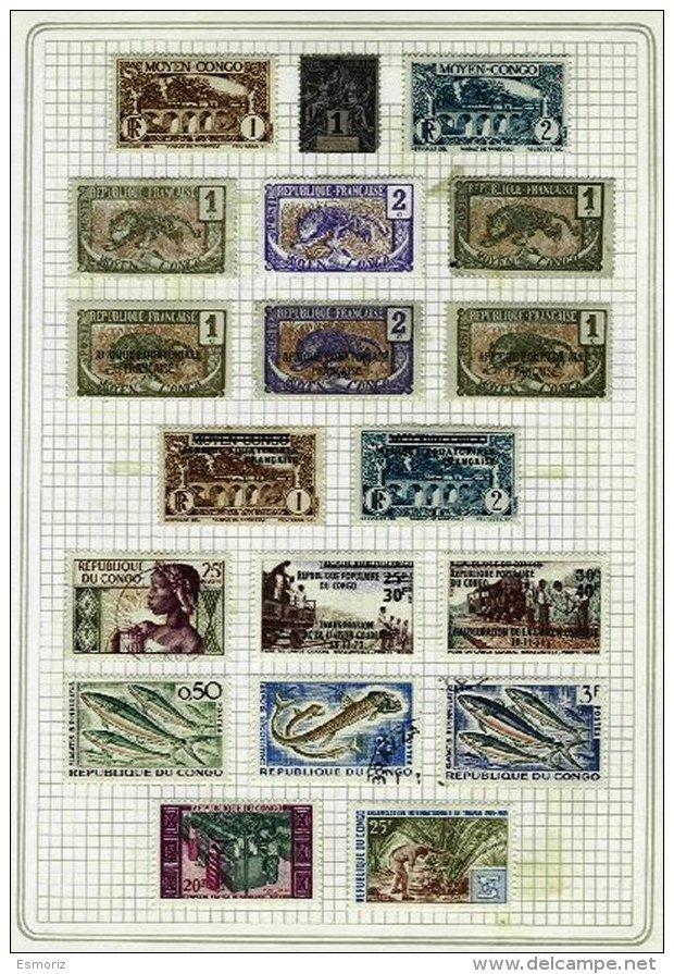 FRENCH CONGO, Colecção/Collection, 1880s/1970s - Congo - Brazzaville