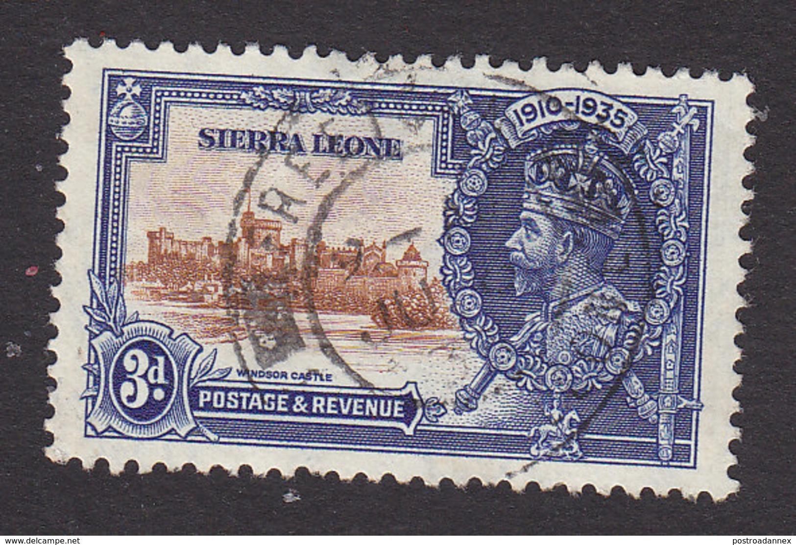 Sierra Leone, Scott #167, Used, Silver Jubilee, Issued 1935 - Sierra Leone (...-1960)