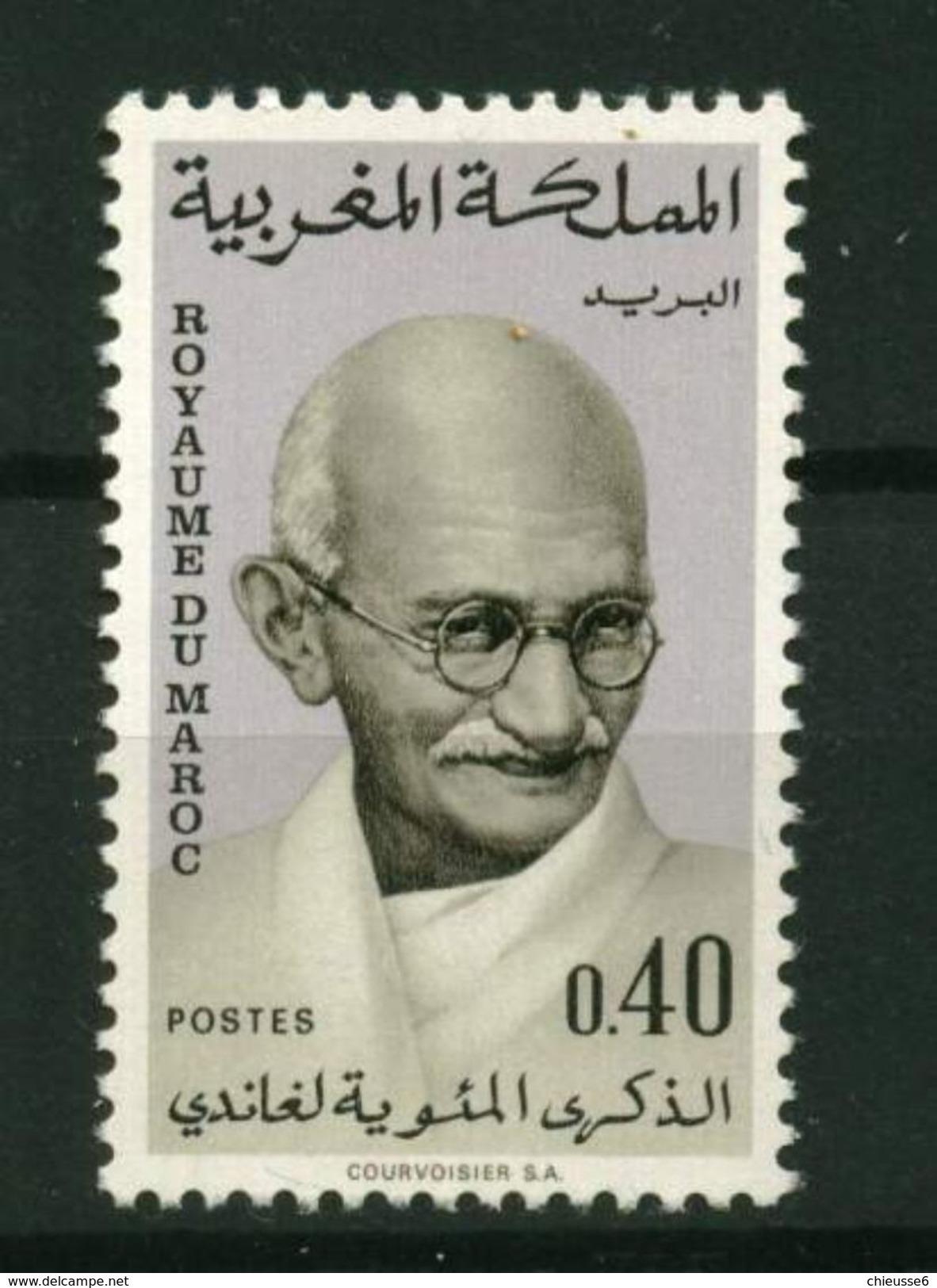 Roy. Maroc ** N° 594 - Centenaire De La Naissance De Gandhi - Marokko (1956-...)