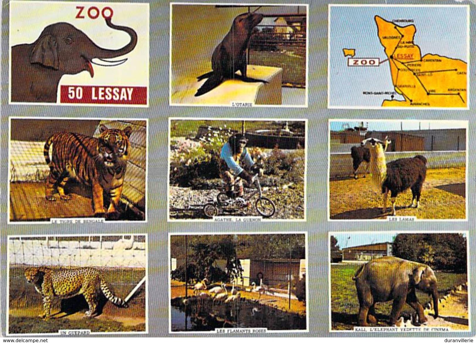 """50 - Lessay - ZOO: """"bon Pour 1 Entrée Gratuite"""": Otarie, Tigre, Guenon, Lamas, Guépard, Flamants Roses, éléphant - Autres Communes"""