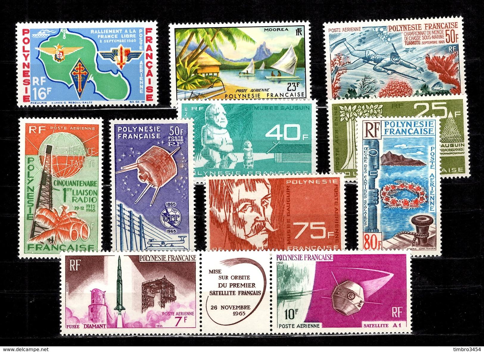Polynésie Poste Aérienne YT N° 8/18A Complet Neufs ** MNH. TB. A Saisir! - Poste Aérienne