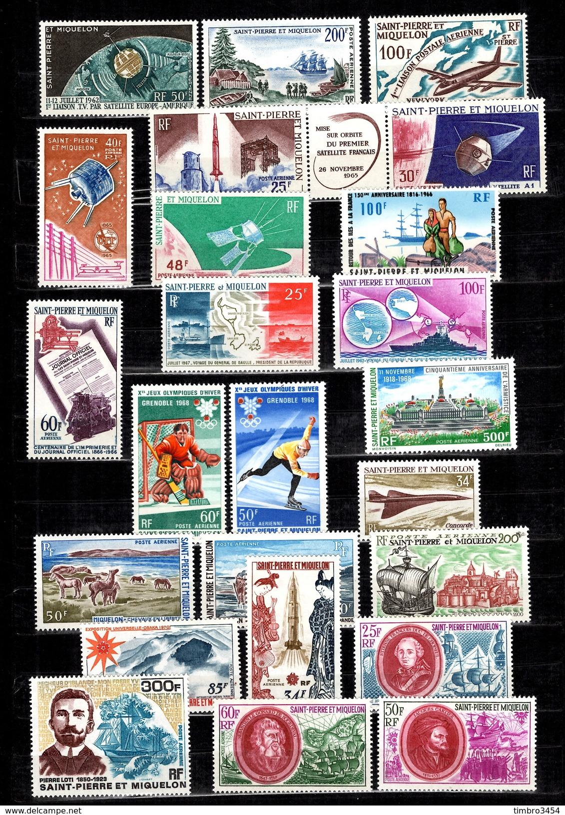 Saint-Pierre Et Miquelon Poste Aérienne YT N° 29/52 Complet Neufs ** MNH. TB. A Saisir! - St.Pierre Et Miquelon