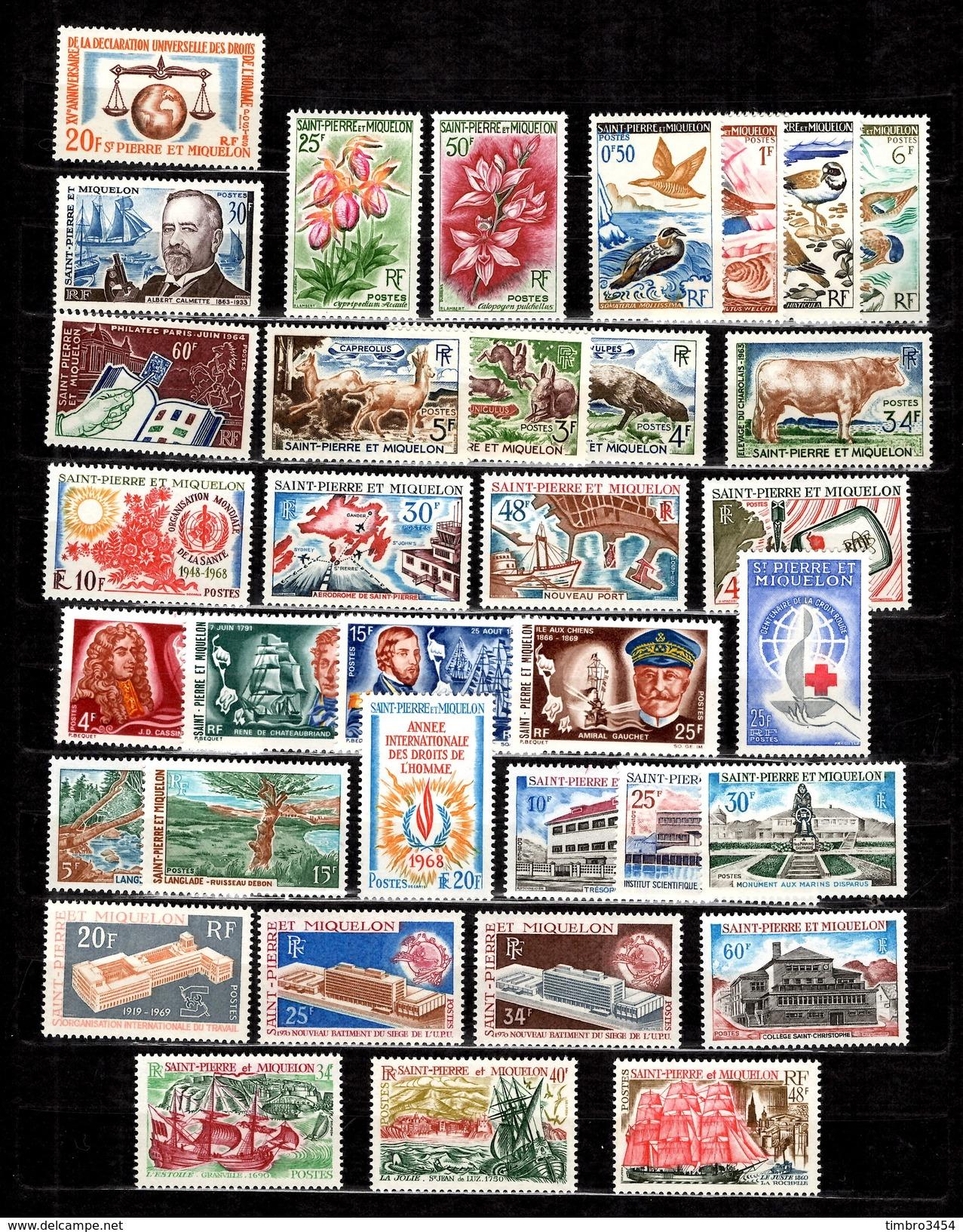 Saint-Pierre Et Miquelon Belle Collection Neufs ** MNH 1962/1971. Bonnes Valeurs. TB. A Saisir! - Collections, Lots & Séries