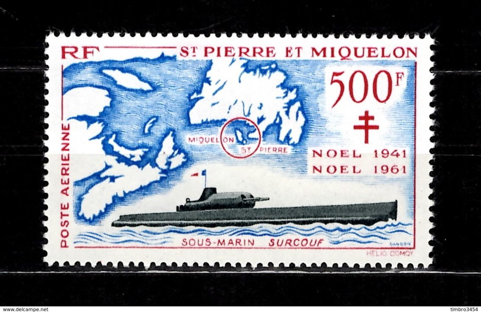 Saint-Pierre Et Miquelon Poste Aérienne YT N° 28 Neuf ** MNH. TB. A Saisir! - Poste Aérienne