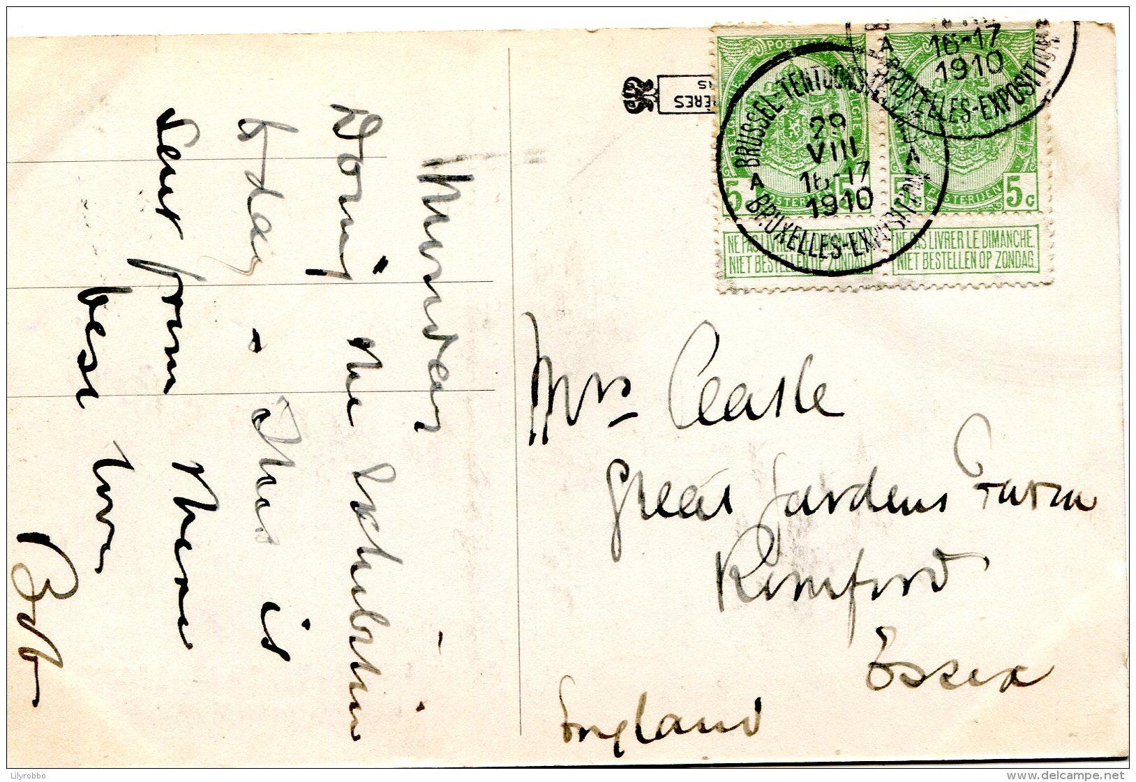 BELGIUM - Pavillon Moet Et Chandon - Exposition De Bruxells 1910 - Superb Postmark - Exposiciones
