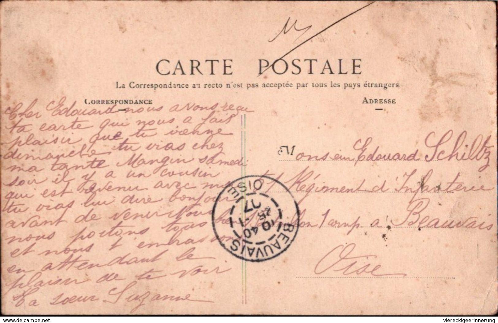! Old Postcard, Cpa, Paris 19 , Rue Secretan, 1907, Commerce - Arrondissement: 19